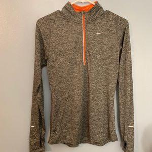 Nike. Running. Gray with bright orange. Reflectors
